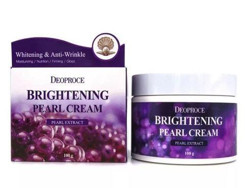 Deoproce Крем для лица с экстрактом жемчуга Moisture Brightening Pearl Cream, 100 гр