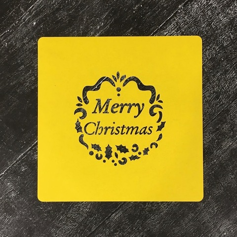 Трафарет новогодний №38 Merry Christmas/Счастливого Рождества