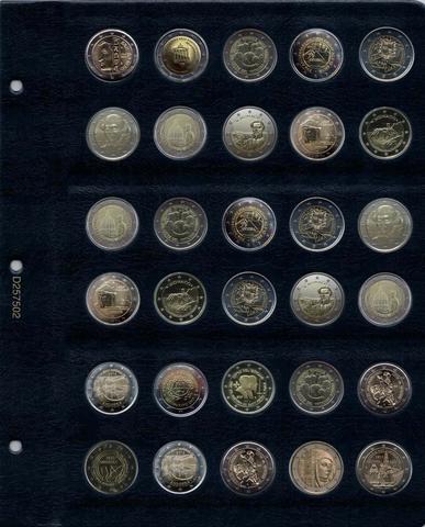Универсальный лист для памятных монет 2 Евро