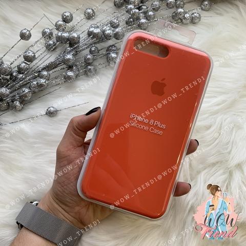 Чехол iPhone 7+/8+ Silicone Case /orange/ оранжевый 1:1