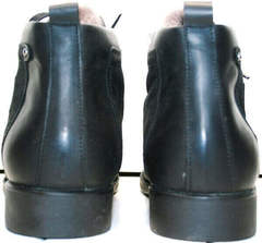 Мужские кожаные ботинки на зиму мужские Luciano Bellini 6057-58K Black Leathers & Nubuk.