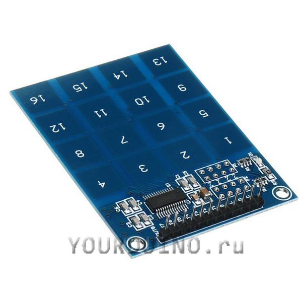 16-канальный сенсорный кнопочный модуль