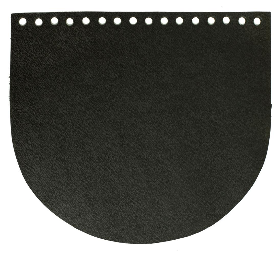 Кожаная фурнитура Клапан для сумочки кожаный черный 19 на 16 см. IMG_756311112222.jpg