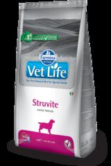 Корм для собак, FARMINA Vet Life STRUVITE, лечение и профилактика МКБ, струвитных уролитов
