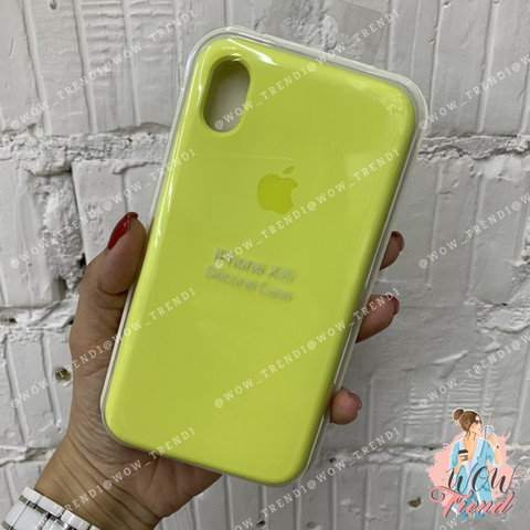 Чехол iPhone XR Silicone Case /flash/ лимонный 1:1