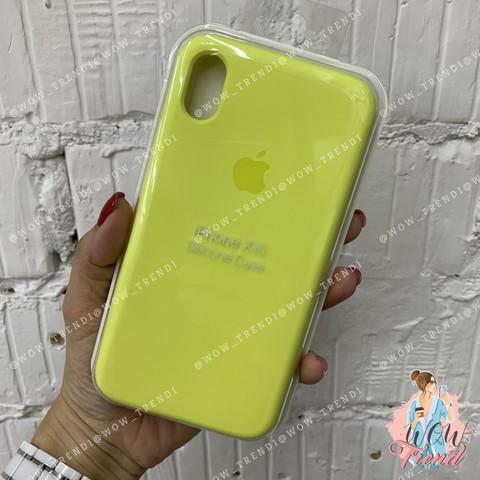 Чехол iPhone XR Silicone Case /flash/ лимонный 1:1