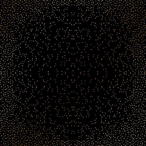 Лист односторонней бумаги с фольгированием Golden Mini Drops Black 30,5х30,5 см