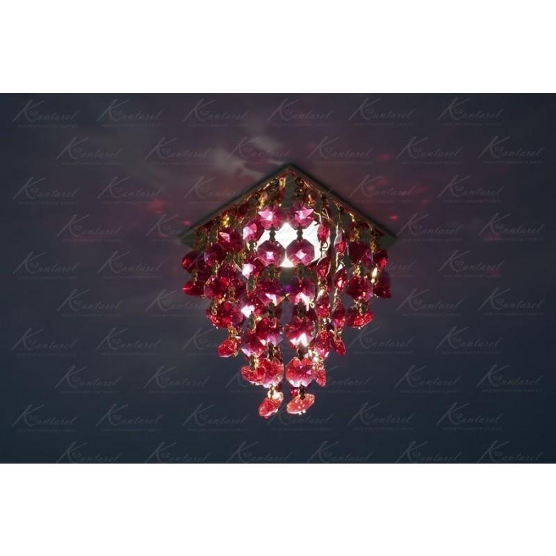 Встраиваемый светильник Kantarel Grape CD 020.3.6 bordeaux