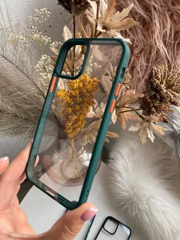 Чехол iPhone 12 /5,4''/ Rock Guard Series /green orange/