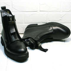 Осенние ботинки женские черные Tina Shoes 292-01 Black.
