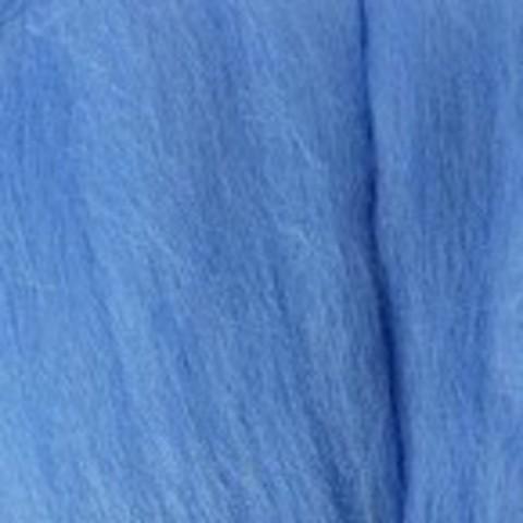 Шерсть для валяния полутонкая 520 Голубая пролеска (Пехорка)