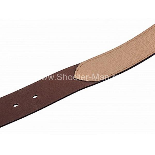 Фото кожаный ремень брючный с подкладом Тайга 40 мм Стич Профи