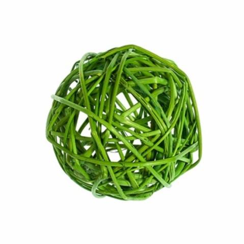 Плетеные шары из ротанга (набор:6 шт., d8см, цвет: зеленое яблоко)