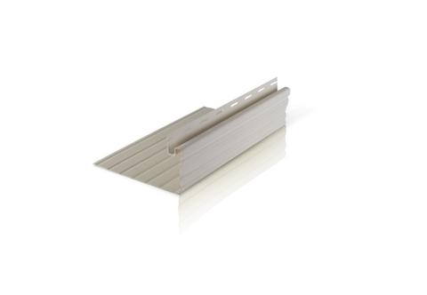 Фасадный декор Доломит - Околооконная планка Горизонтальная Белая