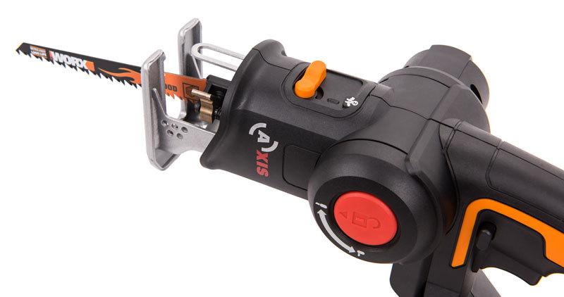 Лобзик аккумуляторный-сабельная пила WORX Axis WX550 20В