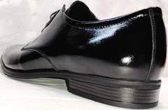 Модельные туфли на свадьбу мужские лаковые Ikoc 2118-6 Patent Black Leather.