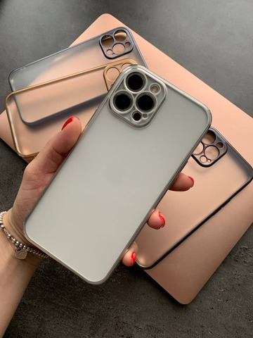 Чехол iPhone 12 Pro Shining Matte Full Camera /silver/