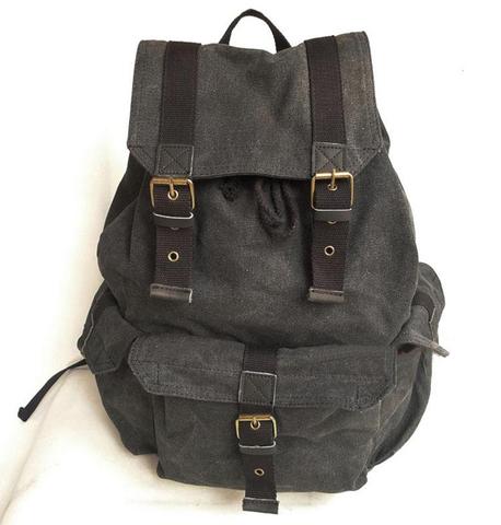 Винтажный рюкзак из ткани Virginland Vir-55 Gray