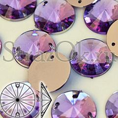 Купить оптом стразы пришивные акриловые Rivoli Light Violet фиолетовые