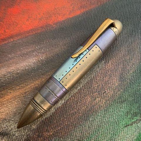 Титановая ручка Zeppelin Aircraft цветная (лоскуты)
