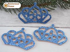 Заготовка корона маленькая бирюзовая № 2