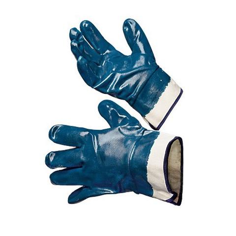 Перчатки нитриловые с полным покрытием (манжет крага) двойной облив