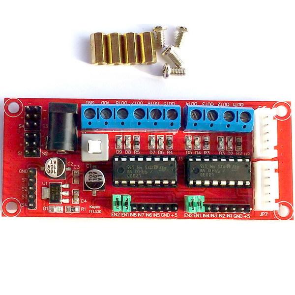 Драйвер двигателей 4-канальный L293D