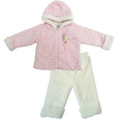 Папитто. Комплект утепленный куртка и брюки, розовый/экрю вид 1