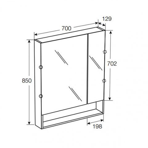 Комплект мебели Roca Gap 70 см (тумба с раковиной + зеркальный шкаф)