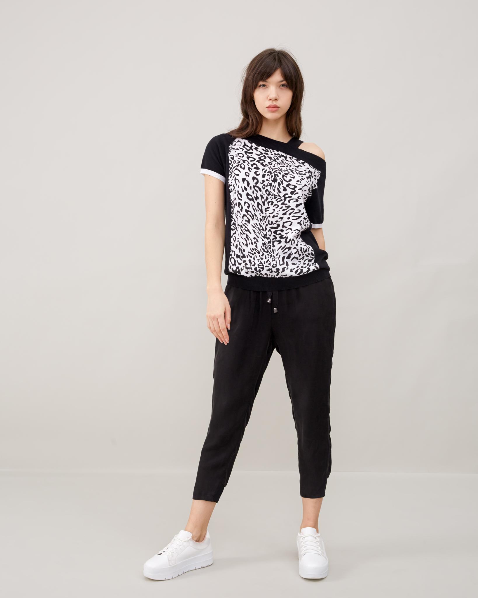 Блузки Блузка с одним плечом В-022 hass-leto23031.jpg