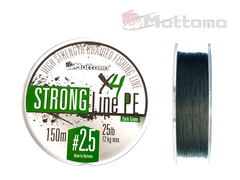 Плетеный шнур Mottomo Strong Line PE Dark Green #2.5/12kg 150m