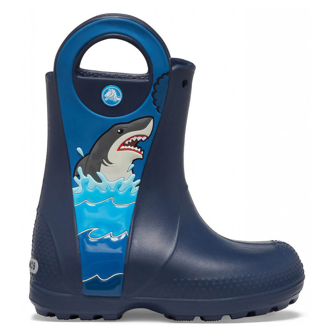 Детские сапоги Crocs Boys' Fun Lab Shark Patch Rain Boot