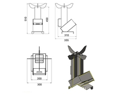 Купить Универсальная походная печь ракета 2 (Везувий)