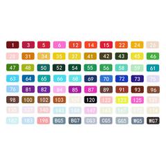 Набор двусторонних спиртовых маркеров TOUCH COOL, 80 цветов (уценка)