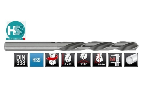 Сверло по металлу ц/x 7,0x109/69мм (LH-Левостороннее) DIN338 h8 5xD HSS-G 135° HSS-Tools 1720-1070