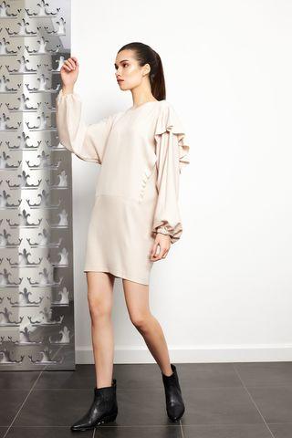 8PM Платье с рюшей на одном плече