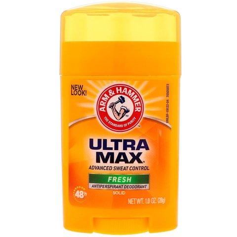 Antipersperant \ Антиперсперант \ Antiperspirant Arm & Hammer, UltraMax,  Solid Deodorant, For Women, Powder Fresh, 1.0 oz (28 g)
