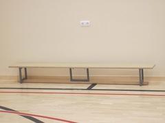 Скамейка гимнастическая на металлических ножках 3.0м (фанера)