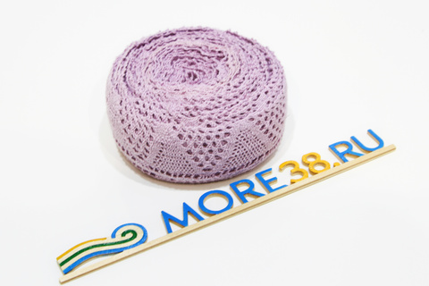 Лента плетение фиолетовая 2