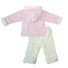 Папитто. Комплект утепленный куртка и брюки, розовый/экрю вид 2