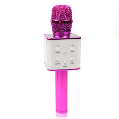 Микрофон для караоке TUXUN Q7 (малиновый)