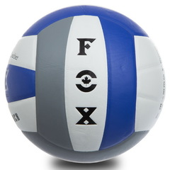 Мяч волейбольный Клееный  FOX, PU с сотами, разноцветный
