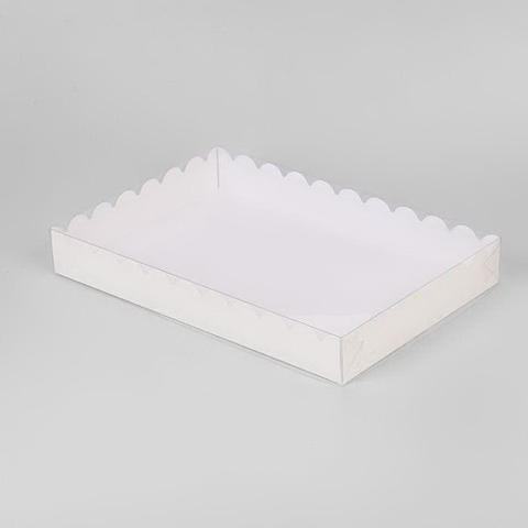 Коробка для печенья и пряников, 22*15*3,5см, (белая)