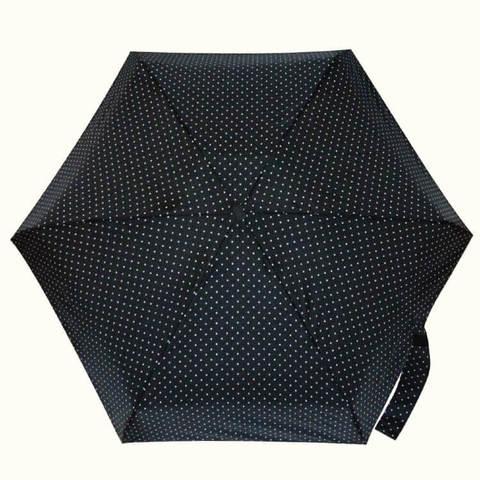 Маленький черный зонтик в горошек