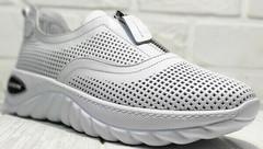 Летние белые туфли кроссовки женские Wollen P029-259-02 All White.