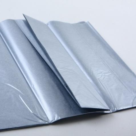 Бумага тишью 10 шт., 50х66см, цвет: серебро (*имеет специфический запах)