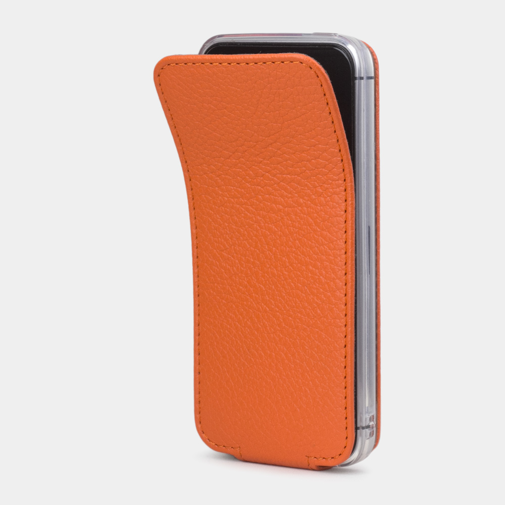 Чехол для iPhone 5S/SE из натуральной кожи теленка, оранжевого цвета