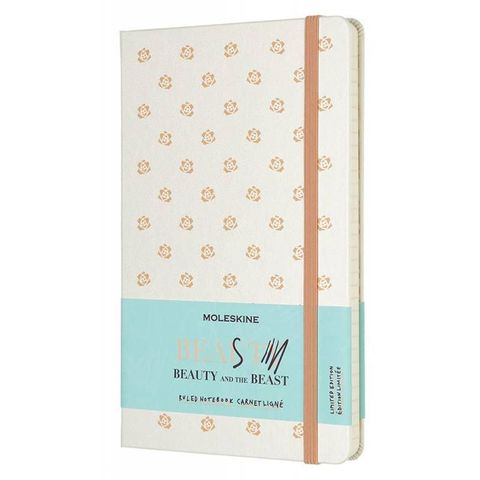 Блокнот Moleskine Limited Edition BEAUTY & BEAST LEBB01QP060BU Large 130х210мм 240стр. линейка Rose