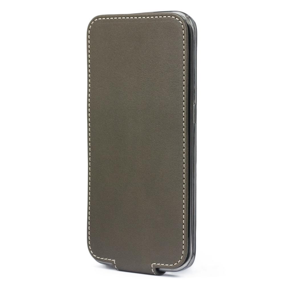 Чехол для Samsung Galaxy S6 edge из натуральной кожи теленка, цвета хаки