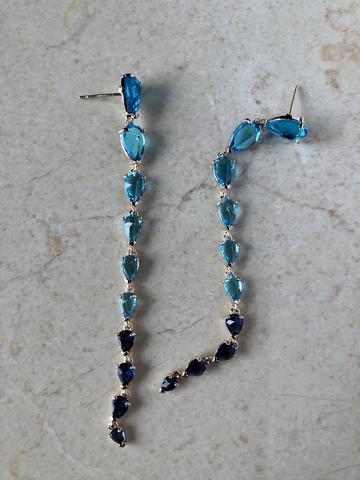Серьги Интекруса с голубо-синим градиентом
